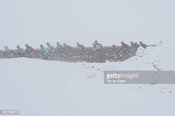 97th Tour of Italy 2014 / Stage 16 Illustration Illustratie / STELVIO 2758m / Peleton Peloton / Snow Neige Sneeuw Landscape Paysage Landschap / Ponte...