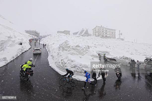97th Tour of Italy 2014 / Stage 16 Illustration Illustratie / CATALDO Dario / PASSO DELLO STELVIO Mountains Montagnes Bergen / Snow Neige Sneeuw /...