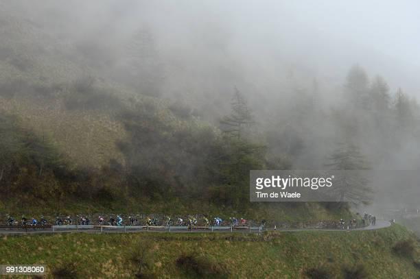 97Th Tour Of Italy 2014 Stage 16 Illustration Illustratie Peleton Peloton Passo Gavia Mountains Montagnes Bergen Landscape Paysage Landschap Ponte Di...