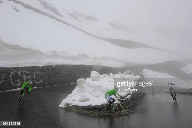 97Th Tour Of Italy 2014 Stage 16 Illustration Illustratie Peleton Peloton Passo Dello Selvio / Snow Neige Sneeuw Landscape Paysage Landschap Ponte Di...