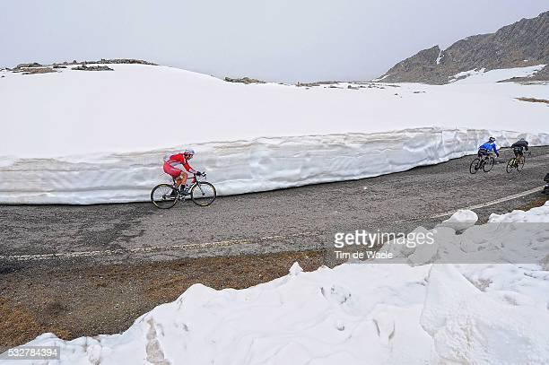 97th Tour of Italy 2014 / Stage 16 LOSADA Alberto / PASSO GAVIA 2618m / Snow Neige Sneeuw Mountains Montagnes Bergen Landscape Paysage Landschap /...