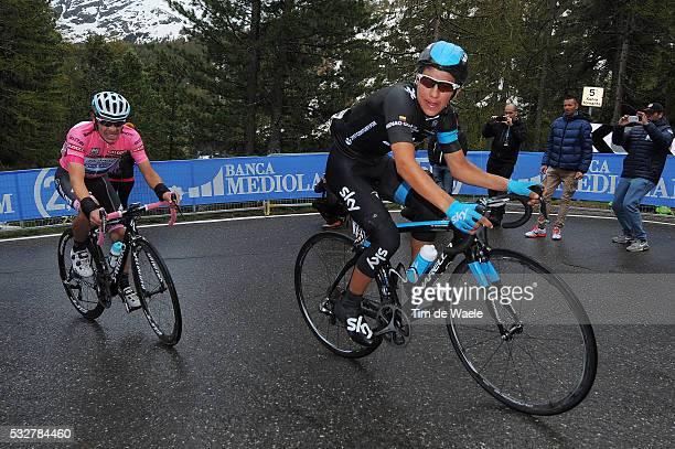 97th Tour of Italy 2014 / Stage 16 URAN Rigoberto Pink Jersey / HENAO GOMEZ Sebastian / Ponte Di Legno Val Martello / Martelltal 2059m / Giro Tour...