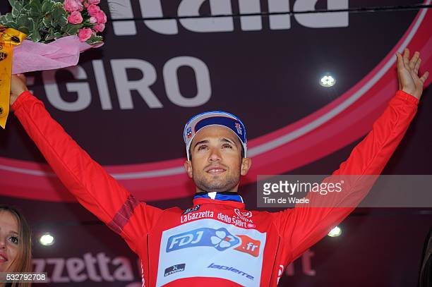 97th Tour of Italy 2014 / Stage 19 Podium / BOUHANNI Nacer Red Sprint Jersey Celebration Joie Vreugde / Bassano Del Grappa - Cima Grappa 1712m / Time...