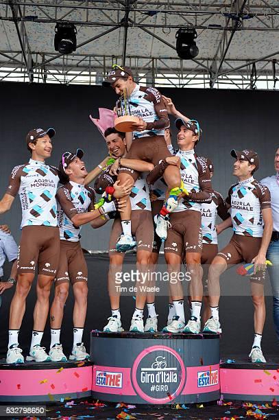 97th Tour of Italy 2014 / Stage 21 Podium / Best Team AG2R / POZZOVIVO Domenico / APPOLLONIO Davide / BERARD Julien / BOUET Maxime / DOMONT Axel /...