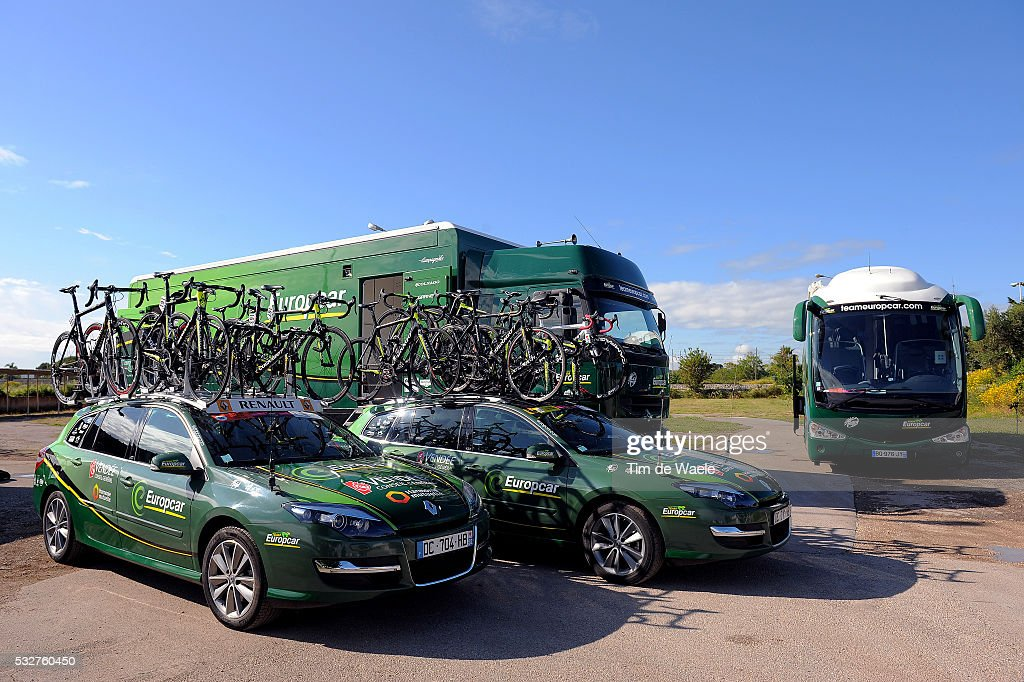 97th Tour Of Italy 2014 Stage 5 Team Europcar Car Voiture Auto Bus