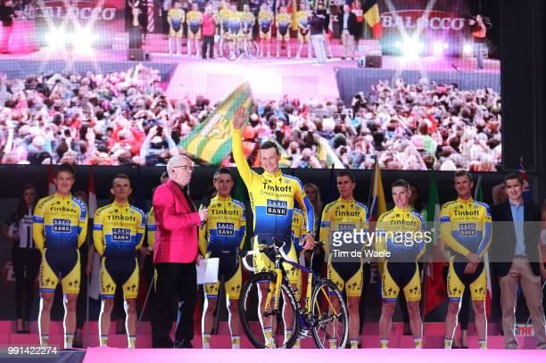 97Th Tour Of Italy 2014 Team Presentation Team Tinkoff Saxo / Roche Nicholas / Juul Jensen Christopher / Majka Rafal / Petrov Evgeny / Poljanski...