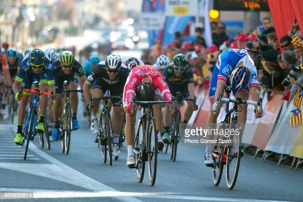 97th Volta Ciclista a Catalunya 2017 / Stage 1 Arrival / Sprint / Davide CIMOLAI / Nacer BOUHANNI / Calella Calella / Tour of Catalunya /