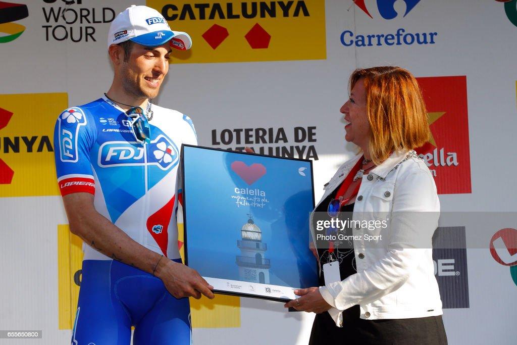 97th Volta Ciclista a Catalunya 2017 / Stage 1 Podium / Davide CIMOLAI (ITA)/ Celebration / Calella - Calella (178,9km)/ Tour of Catalunya /