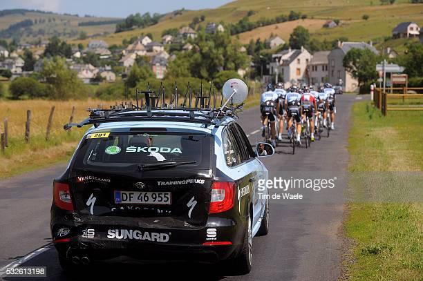 98th Tour de France 2011 / Restday Illustration Illustratie / Accident Ongeval / SKODA Car Voiture Auto / Team Saxo Bank Sungard / Rustdag Jour de...