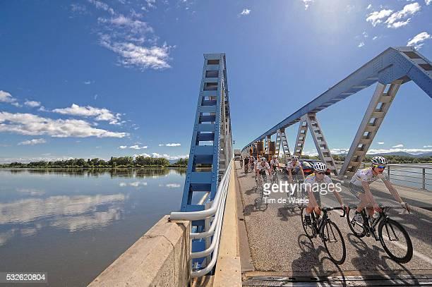98th Tour de France 2011 / Restday Illustration Illustratie / Bridge Pont Brug / LA DROME River Riviere Rivier / Peleton Peloton / Landscape Paysage...