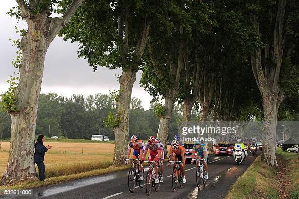 98th Tour de France 2011 / Stage 11 Illustration Illustratie / Forest bois Bos / VALENTIN Tristan / DELAGE Mickael / ENGOULVENT Jimmy / PEREZ MORENO...