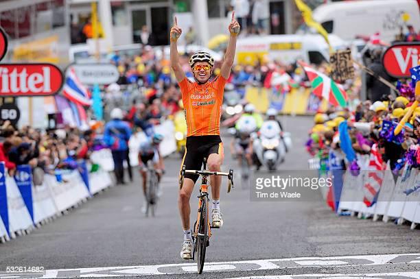 98th Tour de France 2011 / Stage 12 Arrival / SANCHEZ Samuel Celebration Joie Vreugde / Cugnaux - Luz-Ardiden / Ronde van Frankrijk / TDF / Etape Rit...