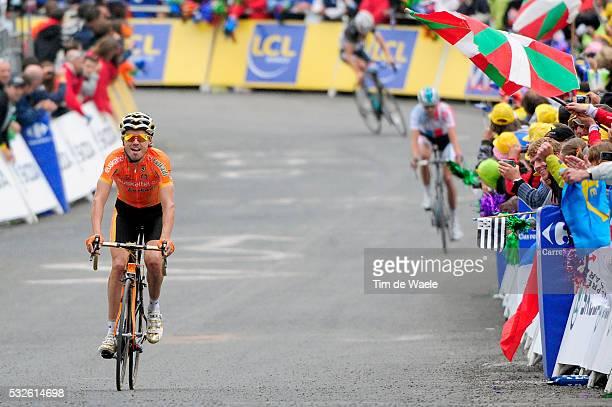 98th Tour de France 2011 / Stage 12 Arrival / SANCHEZ Samuel Celebration Joie Vreugde / VANENDERT Jelle / Frank SCHLECK / Cugnaux - Luz-Ardiden /...