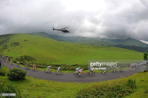 98th Tour de France 2011 / Stage 12 Illustration Illustratie / Col La Hourquette d'Ancizan / Peleton Peloton / Mountains Montagnes Bergen / Landscape...