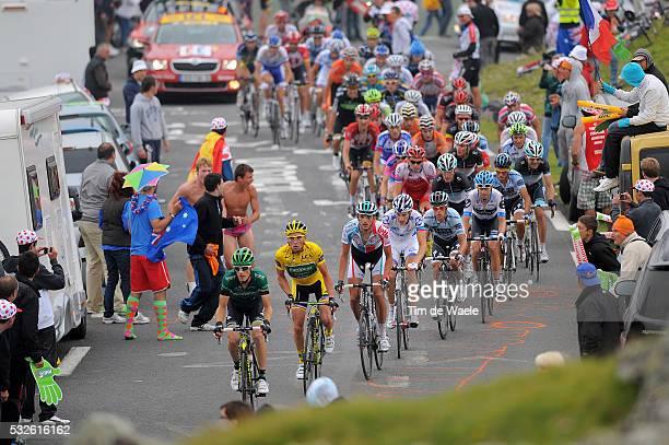 98th Tour de France 2011 / Stage 12 VOECKLER Thomas Yellow jersey / PORTE Richie / VANENDERT Jelle / CONTADOR Alberto / SCHLECK Frank / BASSO Ivan /...