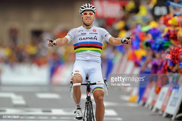 98th Tour de France 2011 / Stage 13 Arrival / HUSHOVD Thor Celebration Joie Vreugde / Pau Lourdes / Ronde van Frankrijk / TDF / Etape Rit / Tim De...