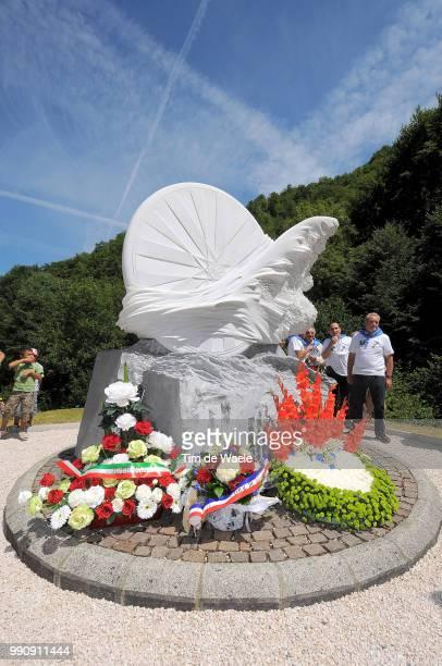 98Th Tour De France 2011 Stage 14Illustration Illustratie Memorial In Memory Of Fabio Casartelli / SaintGaudens Plateau De Beille / Ronde Van...