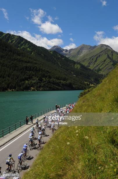 98Th Tour De France 2011, Stage 18Illustration Illustratie, Peleton Peloton, Lago Di Castello Lake Lac Meer, Landscape Paysage Landschap, Mountains...
