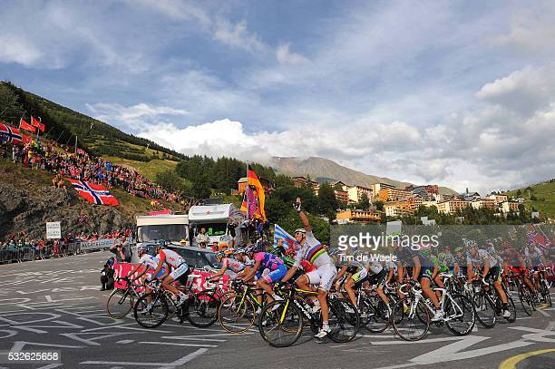 98th Tour de France 2011 / Stage 19 Illustration Illustratie / HUSHOVD Thor / ALPED'HUEZ City Ville Stad / Landscape Paysage Landschap / Mountains...