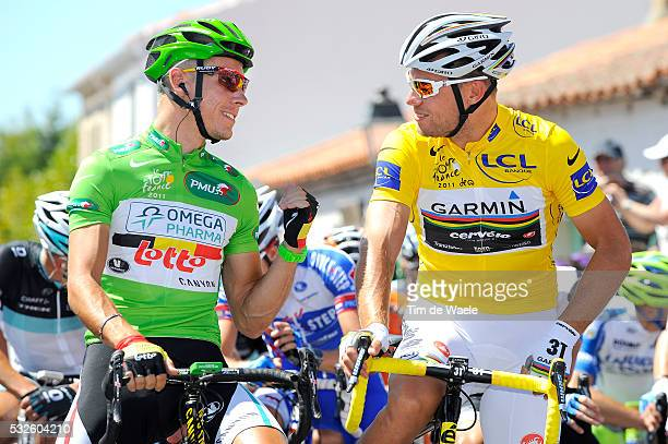 98th Tour de France 2011 / Stage 3 Philippe GILBERT Green Jersey / Thor HUSHOVD Yellow Jersey / OlonneSurMer Redon / Ronde van Frankrijk / TDF /...