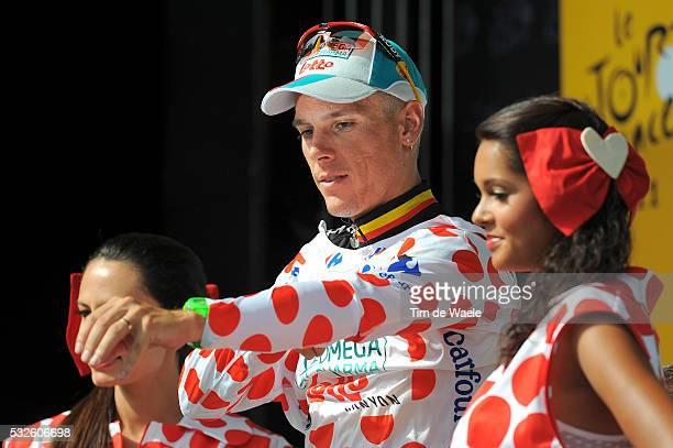 98th Tour de France 2011 / Stage 3 Podium / Philippe GILBERT Mountain Jersey / Celebration Joie Vreugde / OlonneSurMer Redon / Ronde van Frankrijk /...