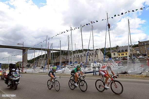98th Tour de France 2011 / Stage 5 Tristan VALENTIN / Jose Ivan GUTIERREZ / Sebastien TURGOT / Illustration Illustratie / St-Brieuc Habour Port Haven...