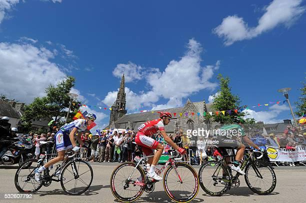98th Tour de France 2011 / Stage 5 Tristan VALENTIN / Sebastien TURGOT / Anthony DELAPLACE / Carhaix - Cap Frehel / Ronde van Frankrijk / TDF / Etape...