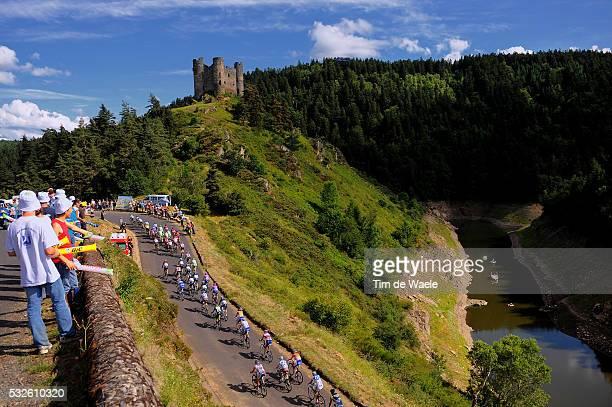 98th Tour de France 2011 / Stage 9 Illustration Illustratie / COTE DU CHATEAU ALLEUZE / Castle Kasteel / Peloton Peleton / Landscape Paysage...