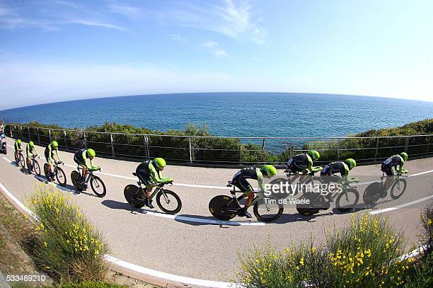 98th Tour of Italy 2015 / Stage 1 Team Cannondale Garmin / HESJEDAL Ryder / ACEVEDO COLLE Javier Alexis / BROWN Nathan / CARDOSO Andre Fernando /...