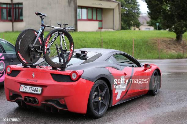98Th Tour Of Italy 2015 Stage 14 Illustration Illustratie Scott Bike Velo Fiets Ferrari Car Voiture Auto Team Iam Cycling / Treviso Valdobbiadene /...