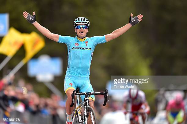 98th Tour of Italy 2015 / Stage 15 Arrival / LANDA MEANA Mikel Celebration Joie Vreugde / Marostica - Madonna Di Campiglio 1715m / Giro Tour Ronde...