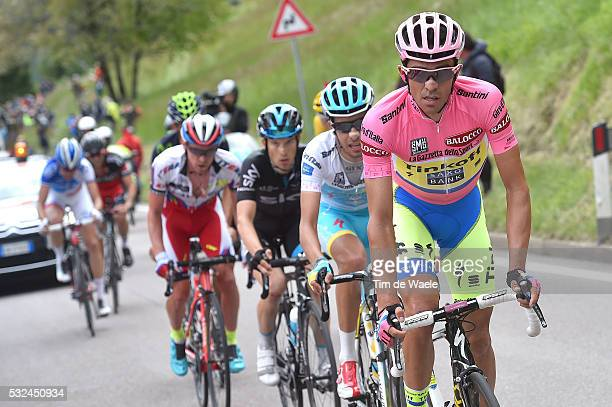 98th Tour of Italy 2015 / Stage 15 CONTADOR Alberto Pink Leader Jersey / ARU Fabio White Young Jersey / Marostica - Madonna Di Campiglio 165Km/ Giro...