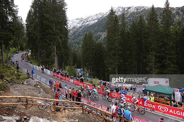 98th Tour of Italy 2015 / Stage 15 Illustration Illustratie / Peleton Peloton / Madonna Di Campiglio Mountains Montagnes Bergen / Landscape Paysage...