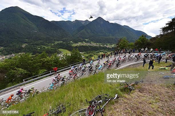98th Tour of Italy 2015 / Stage 15 Illustration Illustratie / Peleton Peloton / Passo Daone Mountains Montagnes Bergen / Landscape Paysage Landschap...
