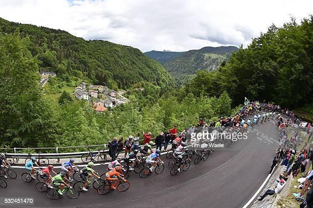 98th Tour of Italy 2015 / Stage 15 Illustration Illustratie / Peleton Peloton / La Fricca Mountains Montagnes Bergen / Landscape Paysage Landschap /...