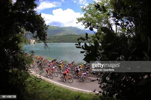 98Th Tour Of Italy 2015, Stage 15 Illustration Illustratie, Peleton Peloton, Sarche Lake Lac Meer, Landscape Paysage Landschap, Marostica - Madonna...
