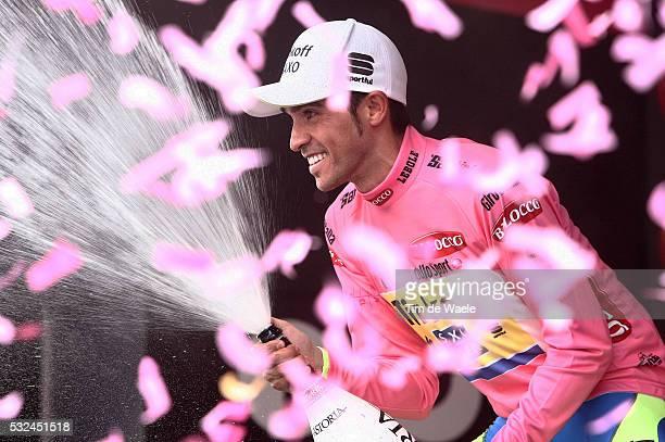 98th Tour of Italy 2015 / Stage 15 Podium / CONTADOR Alberto Pink Leader Jersey / Celebration Joie Vreugde / Champagne / Marostica - Madonna Di...
