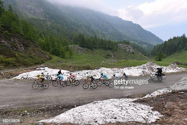 98th Tour of Italy 2015 / Stage 20 Illustration Illustratie/ Landscape Paysage/ CONTADOR Alberto Pink Leader Jersey/ HESJEDAL Ryder / ARU Fabio White...
