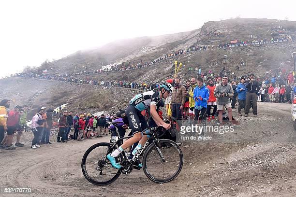 98th Tour of Italy 2015 / Stage 20 Illustration Illustratie/ Landscape Paysage/ Mountains/ Snow/ Public Espectators/ Fans Supporter/ DE LA CRUZ David...