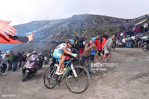 98th Tour of Italy 2015 / Stage 20 Illustration Illustratie/ Landscape Paysage/ Mountains/ Snow/ Public Espectators/ Fans Supporter/ ARU Fabio White...