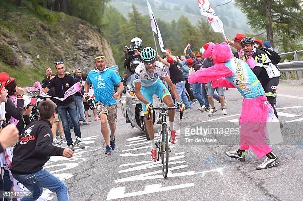98th Tour of Italy 2015 / Stage 20 Illustration Illustratie/ Landscape Paysage/ Mountains/ Public Espectators/ Fans Supporter/ ARU Fabio White Young...