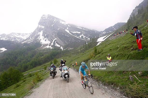98th Tour of Italy 2015 / Stage 20 LANDA Mikel / COLLE DELLE FINESTRE Mountains Montagnes Bergen / Landscape Paysage Landschap / Illustration...