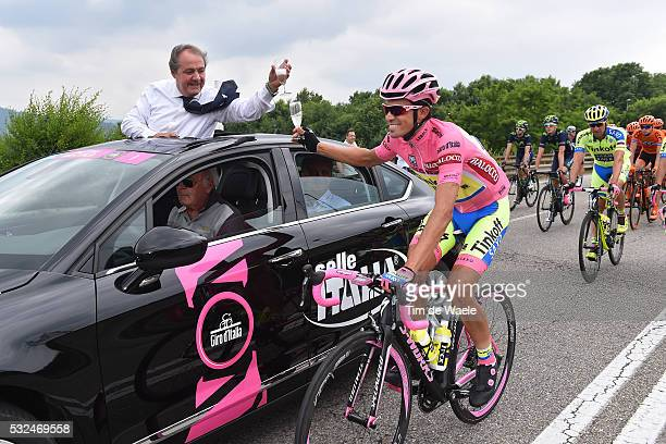 98th Tour of Italy 2015 / Stage 21 Mauro VENI Race Director / CONTADOR Alberto Pink Leader Jersey/ Celebration Joie Vreugde/ Champagne/ Torino-Milano...