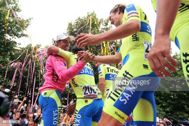 98Th Tour Of Italy 2015, Stage 21 Podium, Contador Alberto Pink Leader Jersey, Celebration Joie Vreugde, Juul Jensen Christopher / Team Tinkoff Saxo...