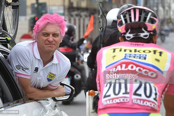 98th Tour of Italy 2015 / Stage 21 TINKOV Oleg TINKOFF SAXO Owner/ Celebration Joie Vreugde/ Champagne/ CONTADOR Alberto Pink Leader Jersey/...