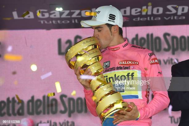 98Th Tour Of Italy 2015 Stage 21Podium/ Contador Alberto Pink Leader Jersey Celebration Joie Vreugde/ Trophee Trofee Cup /TorinoMilano / Giro Tour...