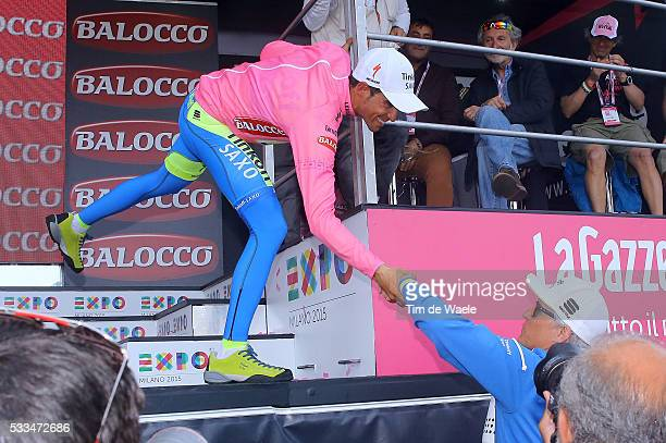 98th Tour of Italy 2015 / Stage 5 Podium / CONTADOR Alberto Pink Leader Jersey / Oleg TINKOFF Team Owner TINKOFF Saxo / Celebration Joie Vreugde / La...