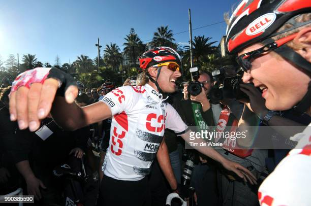 Milan - Sanremo Arrival, Fabian Cancellara , Matti Breschel , Celebration Joie Vreugde /Milaan Milano San Remo , Tim De Waele