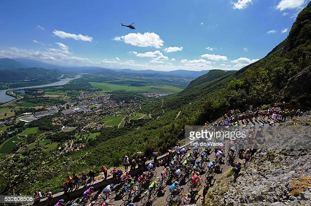 99th Tour de France 2012 / Stage 10 Illustration Illustratie / Col du Grand Colombier / Peleton Peloton / Mountains Montagnes Bergen / Landscape...