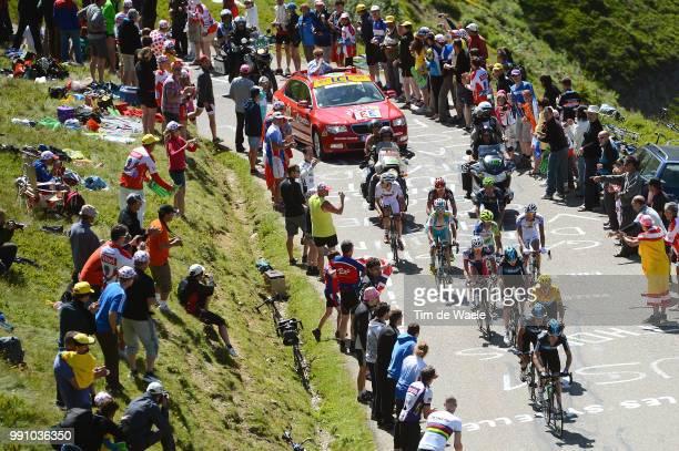 99Th Tour De France 2012, Stage 11 Christopher Froome / Bradley Wiggins Yellow Jersey, Jurgen Van Den Broeck / Vincenzo Nibali / Thibaut Pinot /...